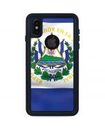 El Salvador Flag iPhone XS Waterproof Case