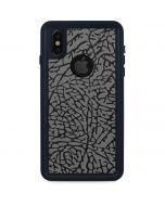Elephant Print Grey iPhone XS Waterproof Case