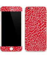 Elephant Print Red iPhone 6/6s Plus Skin