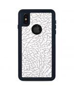 Elephant Print White iPhone XS Waterproof Case
