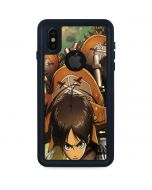 Eren Mikasa And Armin iPhone XS Waterproof Case