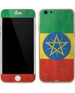 Ethiopia Flag Distressed iPhone 6/6s Skin