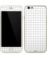 White Grid iPhone 6/6s Skin