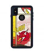 Flash Block Pattern iPhone XS Waterproof Case