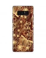 Floral Wood Mahogany Galaxy Note 8 Skin