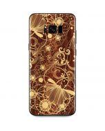 Floral Wood Mahogany Galaxy S8 Plus Skin