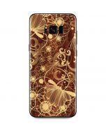 Floral Wood Mahogany Galaxy S8 Skin