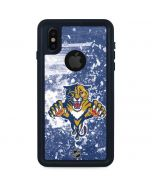 Florida Panthers Frozen iPhone XS Waterproof Case