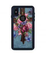 Flower Cross iPhone XS Waterproof Case