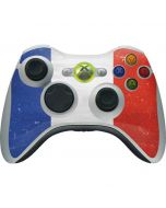 French Flag Distressed Xbox 360 Wireless Controller Skin
