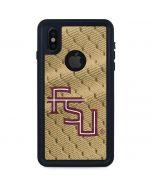 FSU Gold Print iPhone X Waterproof Case