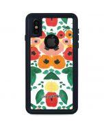 Geometric Flowers iPhone XS Waterproof Case