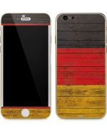 German Flag Dark Wood iPhone 6/6s Skin