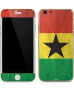 Ghana Flag Distressed iPhone 6/6s Skin