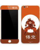 Goku Orange Monochrome iPhone 6/6s Plus Skin