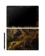 Gold and Black Marble Galaxy Book 10.6in Skin