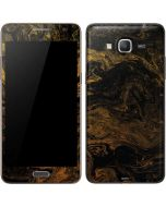 Gold and Black Marble Galaxy Grand Prime Skin