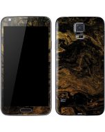 Gold and Black Marble Galaxy S5 Skin
