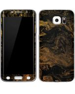 Gold and Black Marble Galaxy S6 Edge Skin