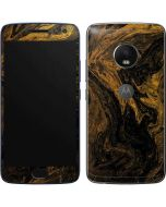 Gold and Black Marble Moto G5 Plus Skin