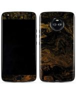 Gold and Black Marble Moto X4 Skin