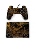 Gold and Black Marble PlayStation Classic Bundle Skin