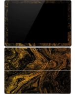 Gold and Black Marble Surface Pro 4 Skin