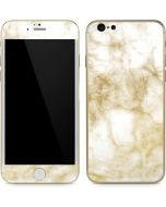 Gold and White Marble iPhone 6/6s Skin