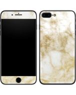 Gold and White Marble iPhone 7 Plus Skin