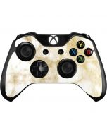 Gold and White Marble Xbox One Controller Skin