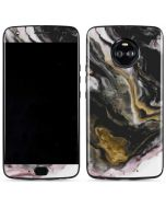 Gold Blush Marble Ink Moto X4 Skin
