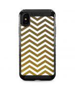 Gold Chevron iPhone XS Max Cargo Case