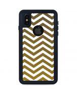 Gold Chevron iPhone XS Waterproof Case