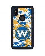 Golden State Warriors Digi Camo iPhone X Waterproof Case