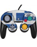 Greece Flag Distressed Nintendo GameCube Controller Skin