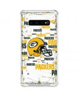 Green Bay Packers - Blast Galaxy S10 Plus Clear Case