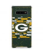 Green Bay Packers Blast Galaxy S10 Plus Clear Case