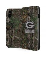 Green Bay Packers Realtree Xtra Green Camo iPhone XS Max Folio Case