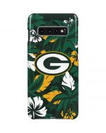 Green Bay Packers Tropical Print Galaxy S10 Plus Lite Case