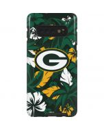 Green Bay Packers Tropical Print Galaxy S10 Plus Pro Case