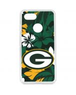 Green Bay Packers Tropical Print Google Pixel 3 Clear Case