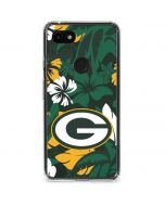 Green Bay Packers Tropical Print Google Pixel 3a Clear Case