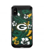 Green Bay Packers Tropical Print iPhone XS Max Cargo Case