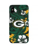 Green Bay Packers Tropical Print iPhone XS Max Lite Case