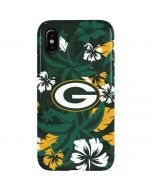 Green Bay Packers Tropical Print iPhone XS Pro Case