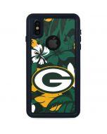 Green Bay Packers Tropical Print iPhone XS Waterproof Case