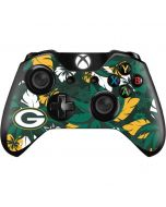 Green Bay Packers Tropical Print Xbox One Controller Skin