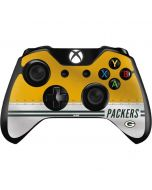 Green Bay Packers White Striped Xbox One Controller Skin