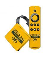 Green Bay Packers Yellow Performance Series Amazon Fire TV Skin
