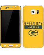 Green Bay Packers Yellow Performance Series Galaxy S6 Edge Skin